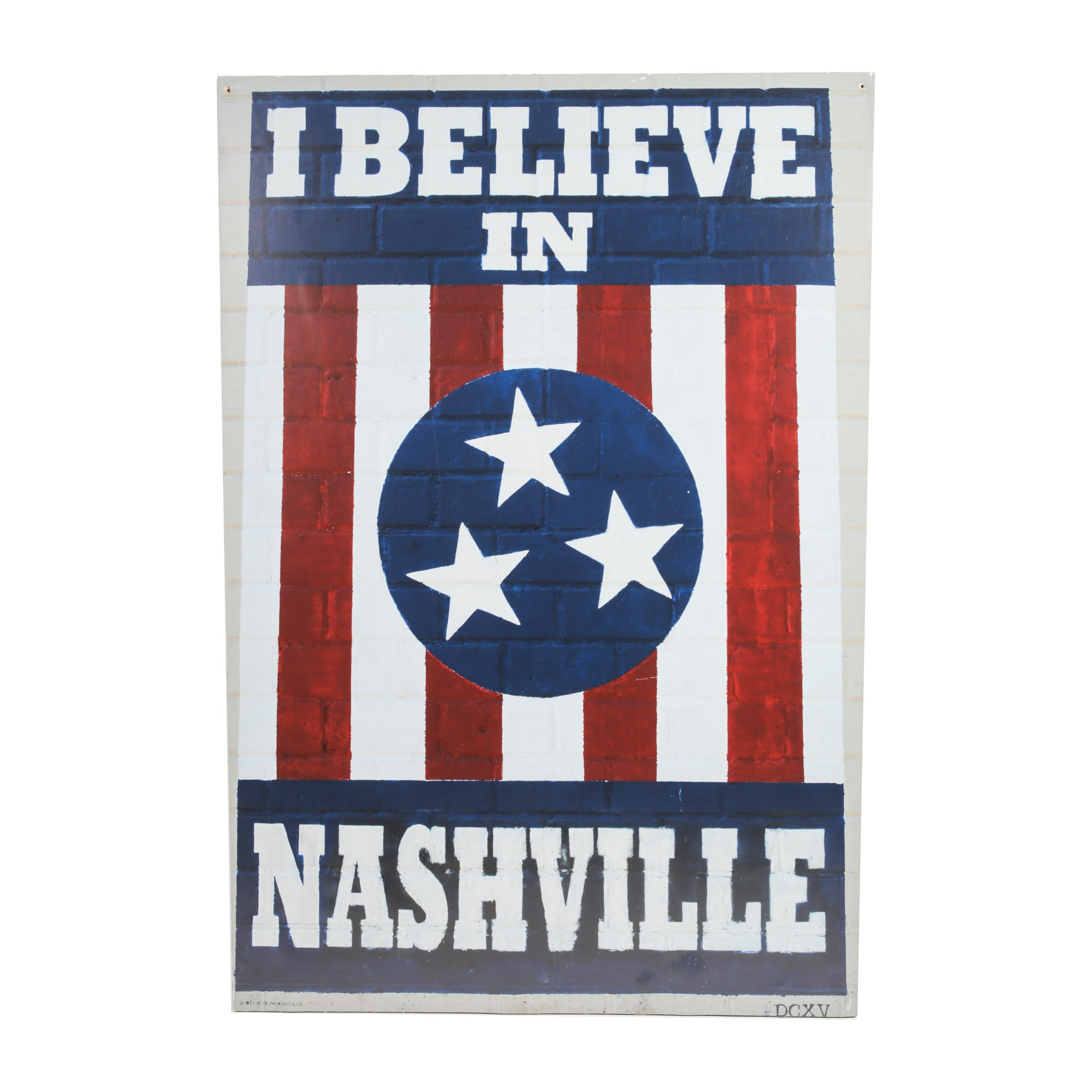 """""""I Believe In Nashville"""" Photographic Print on Board By DCXV"""