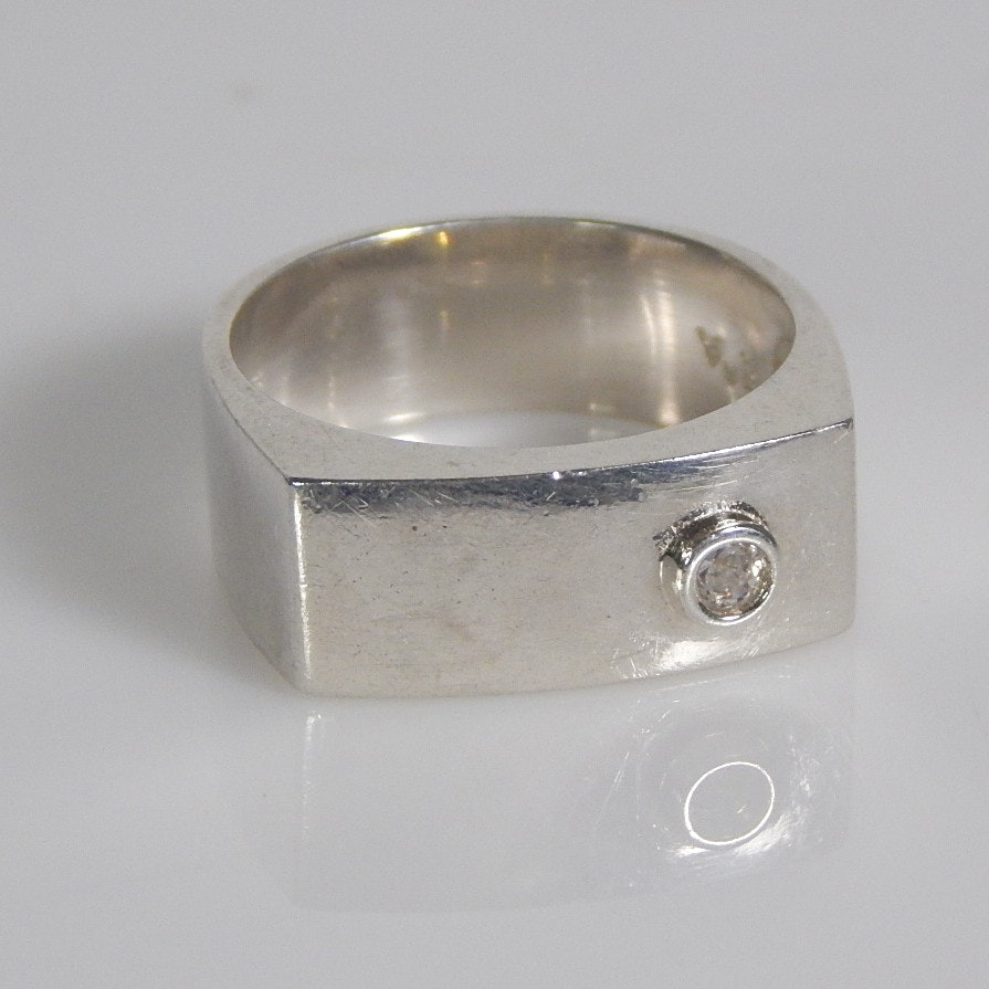 mens 925 sterling silver ring with cz ebth