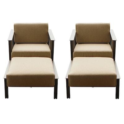 Woodard Jax Outdoor Lounge Chair with Ottoman Set