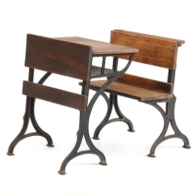Antique School Chair and Desk - Vintage Chairs, Antique Chairs And Retro Chairs Auction In