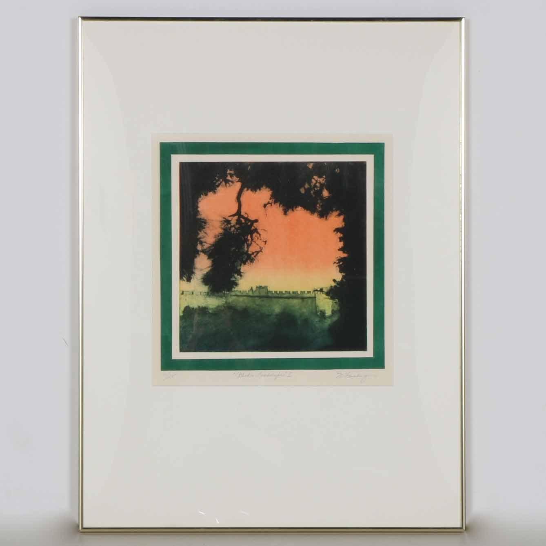 "Limited Edition M. Feinberg Aquatint ""Rhodes Landscape I"""