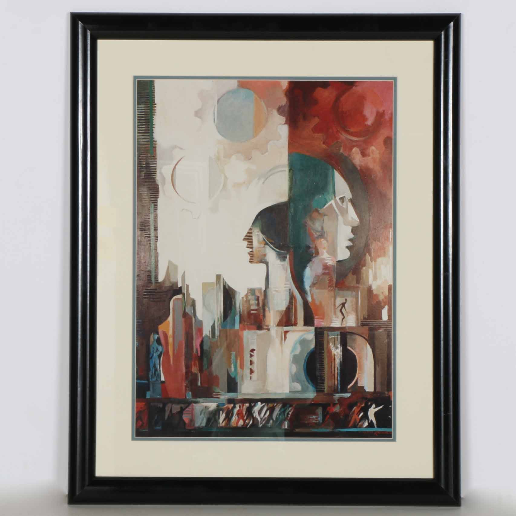 Giclee Print After Industrial Style Painting