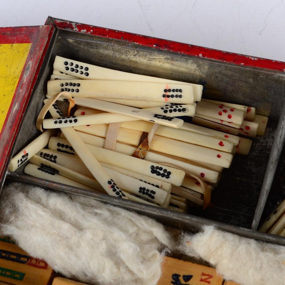 Vintage Mah Jongg Set 99
