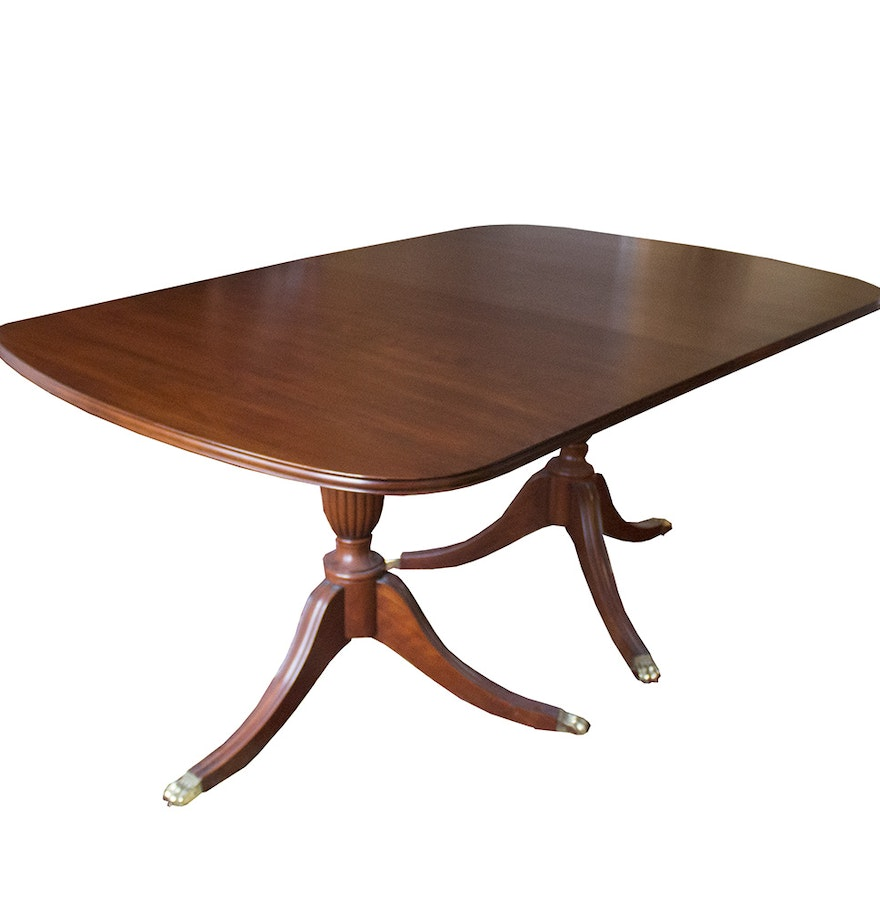 Henkel Harris Dining Table Duncan Phyfe Style Cherry Dining Table By Henkel Harris Ebth