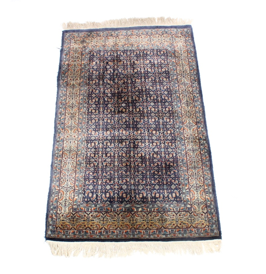 Persian Hand Woven Bakhtiari Style Wool Area Rug Ebth: Hand Knotted Indo-Persian Herati-Style Area Rug : EBTH