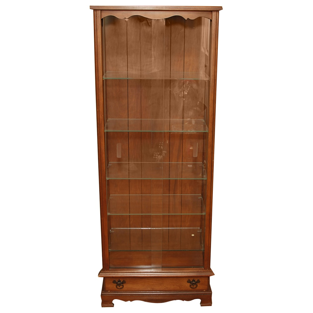 Maple Curio Cabinet With Glass Shelves Ebth