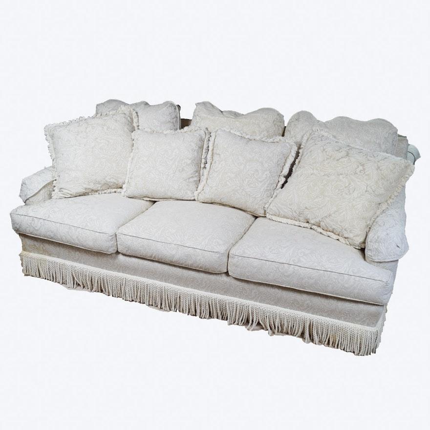 Phenomenal Contemporary White Brocade Sofa Theyellowbook Wood Chair Design Ideas Theyellowbookinfo