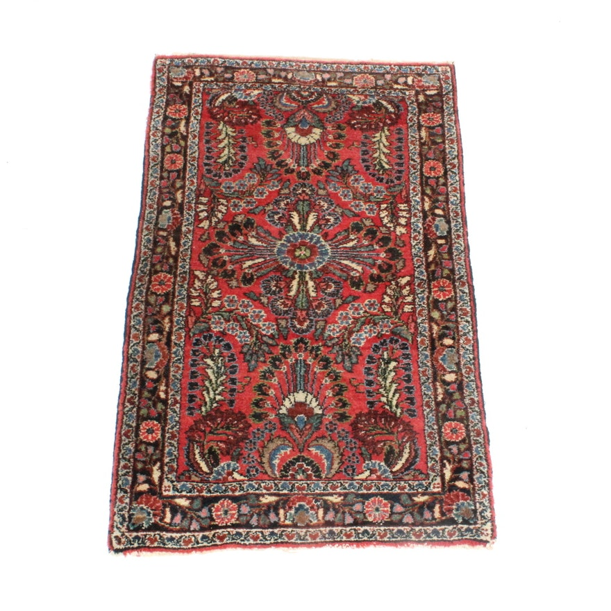 Hand Knotted Persian Wool Area Rug Ebth: Antique Hand Knotted Persian Dergazine Area Rug : EBTH