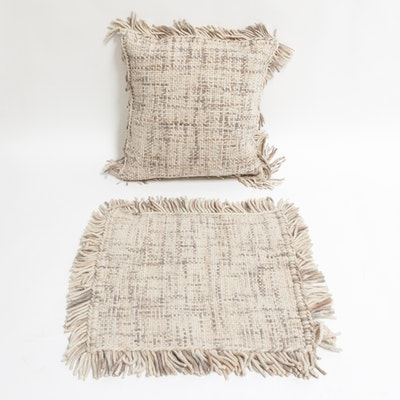 Down-Filled Decorative Pillow and Pillow Sham
