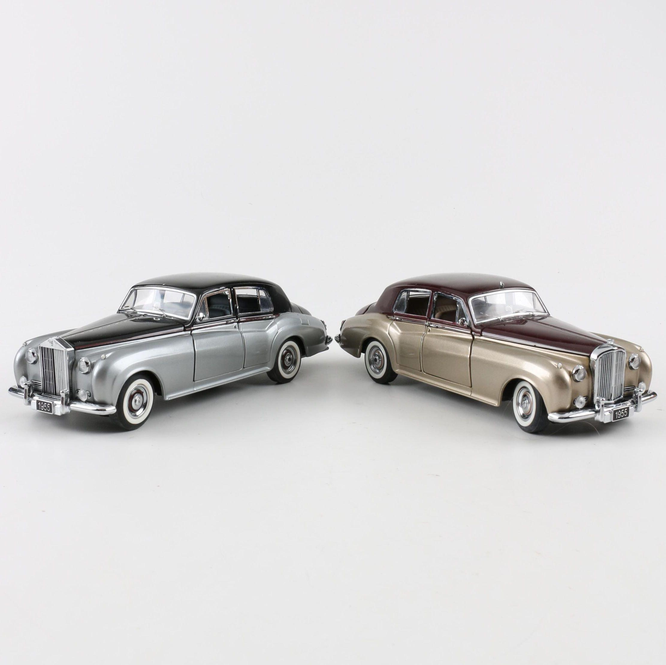 1955 Bentley And Rolls Royce Franklin Mint Die Cast Cars Ebth