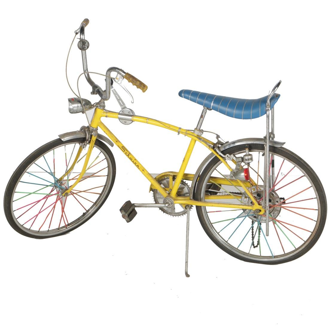 "1972 Yellow Schwinn ""Manta-Ray"" Five Speed Bicycle"