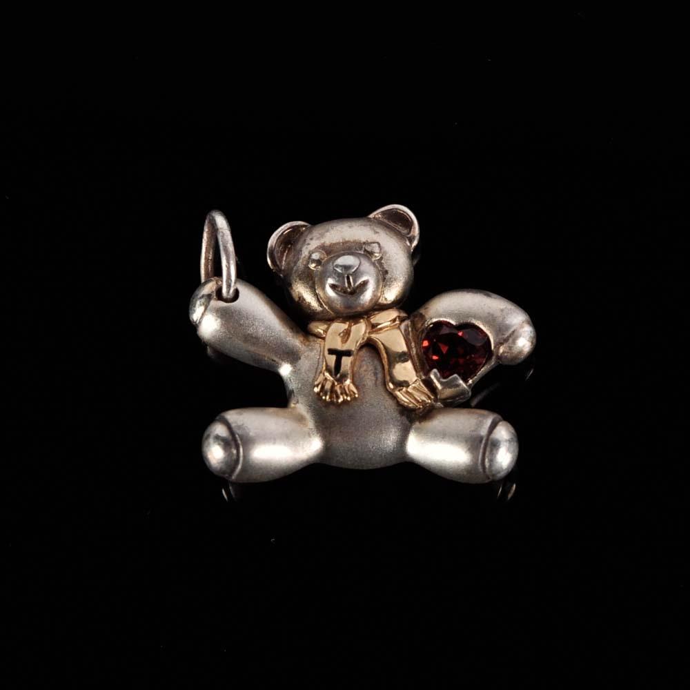Sterling Silver Teddy Bear Keepsake Pendant
