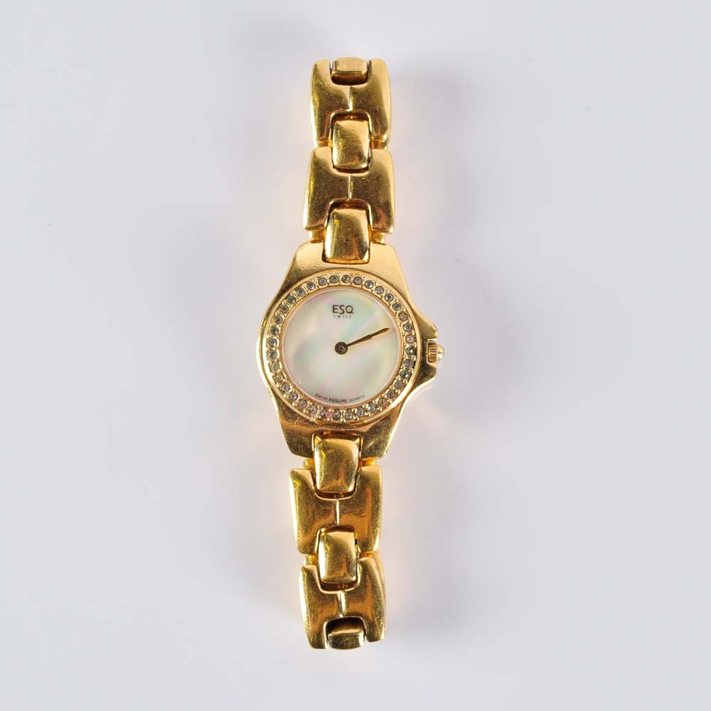 Esquire Gold Tone Women's Quartz Wristwatch