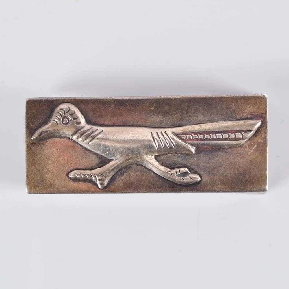 Sterling Silver Road Runner Belt Buckle