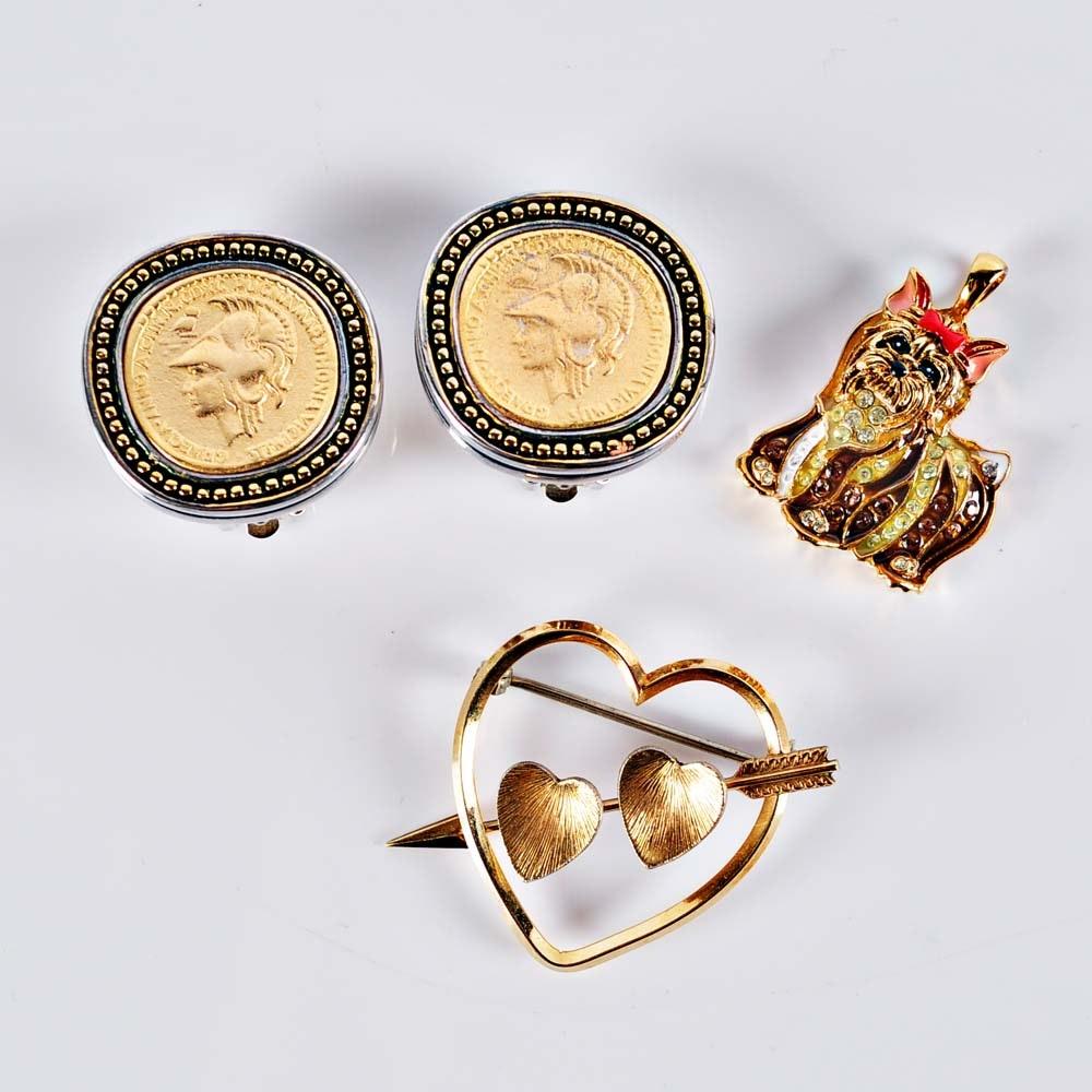 Gold Tone Costume Jewelry
