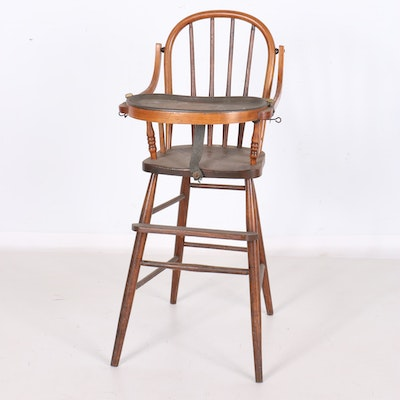 Bentwood High Chair with Metal Tray - Vintage Chairs, Antique Chairs And Retro Chairs Auction In