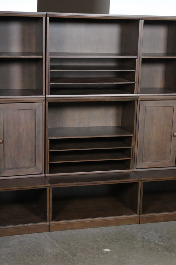 Pottery Barn Kids Cameron Wall Units In Chocolate Ebth