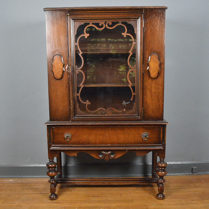 Circa 1930s Jacobean Style China Cabinet by Tomlinson : EBTH