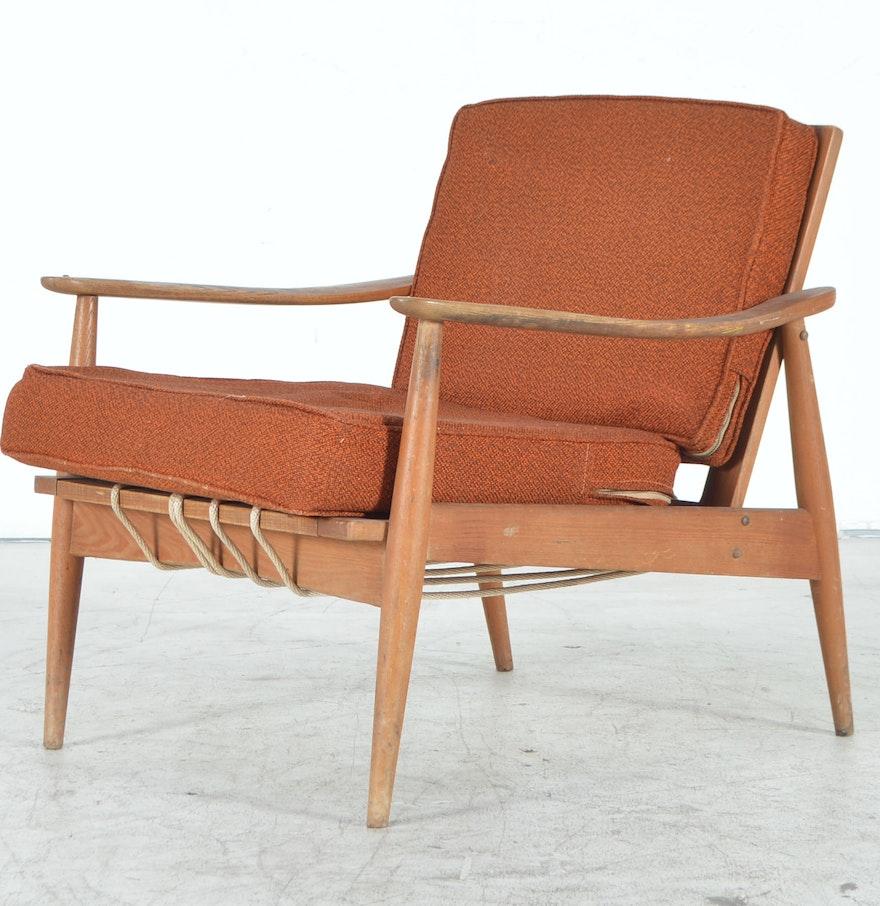 Vintage Mid-Century Modern Teak Danish Arm Chair : EBTH