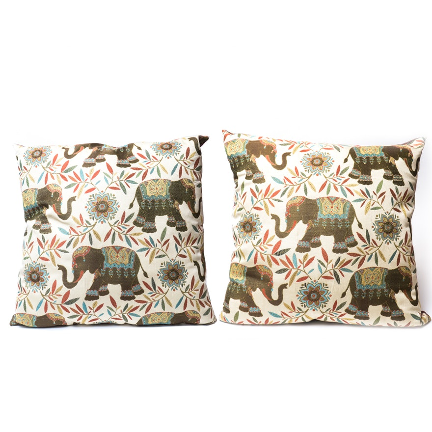 Pier 40 Elephant Throw Pillows EBTH Classy Pier 1 Decorative Pillows