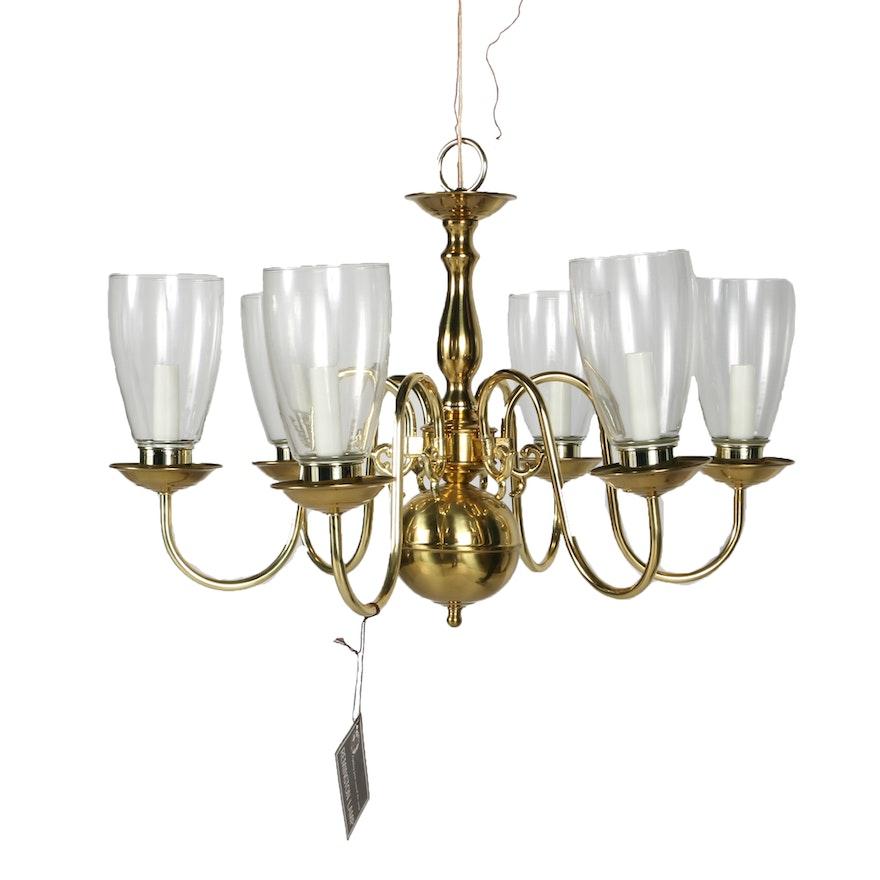 Remington Lamp Brass Chandelier