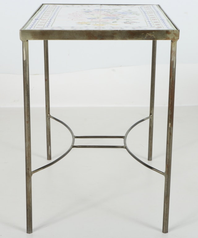 Small tile top accent table ebth for 12 x 12 accent table