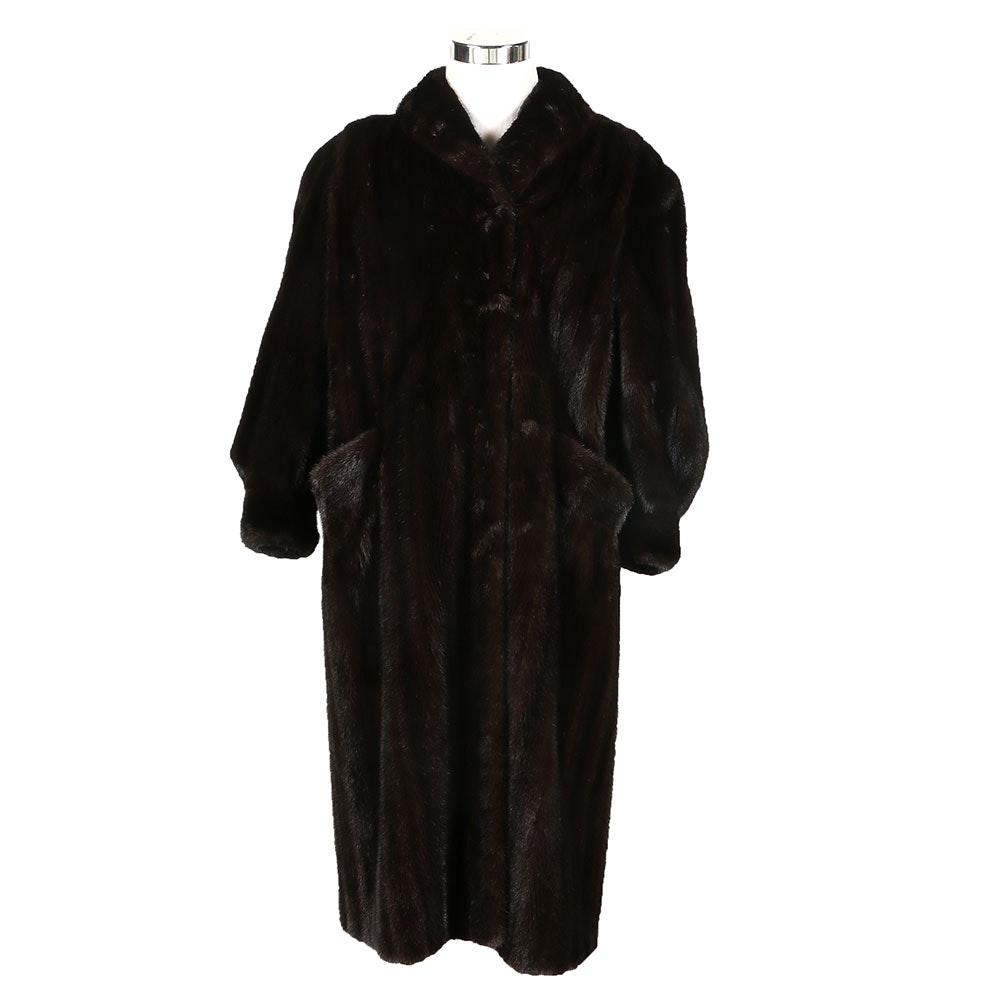 S. Garber Full-Length Mink Fur Coat