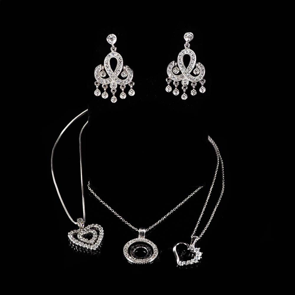 Sterling Silver and Cubic Zirconia Jewelry