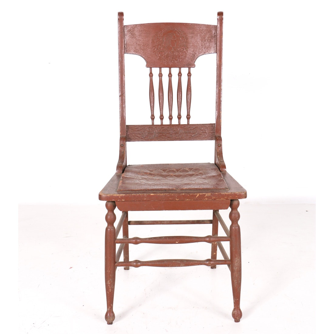 Vintage Brown Wood Kitchen Chair