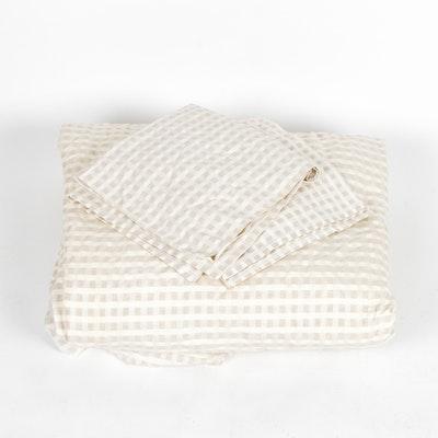Coyuchi Cotton and  Linen Birch Pillow Sham and Duvet