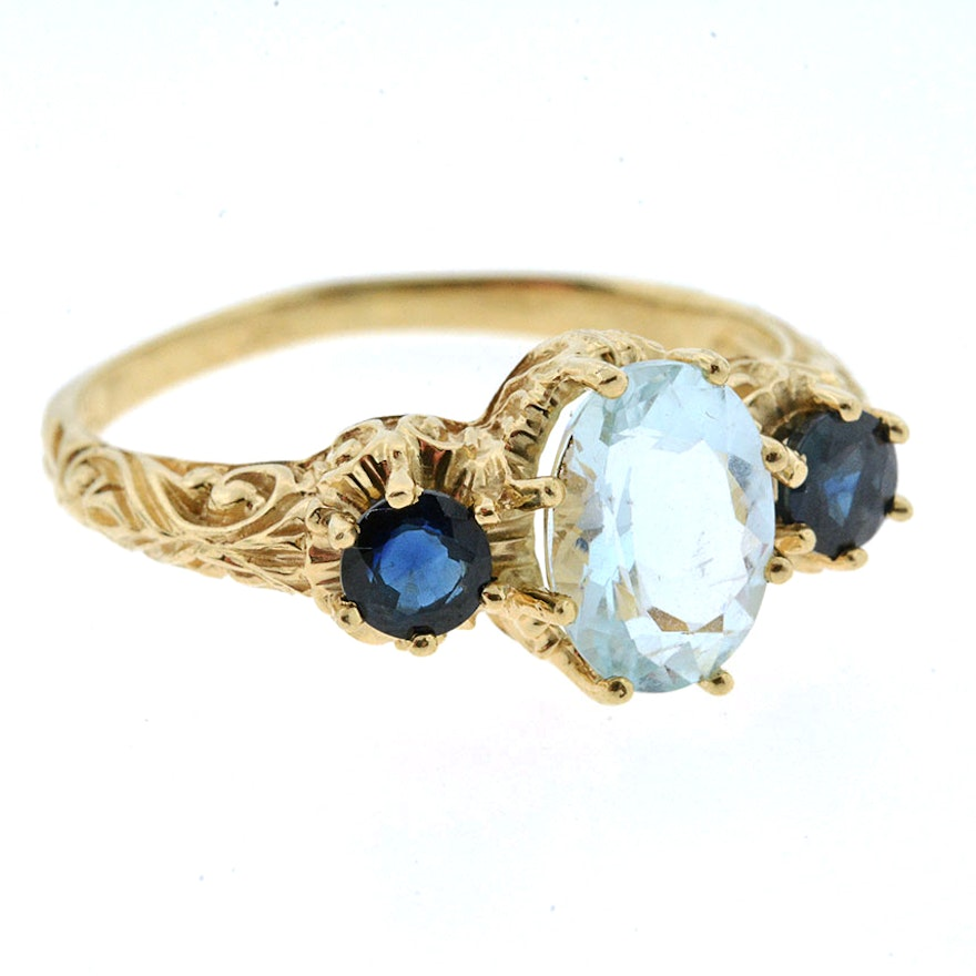 cluster ring diamond precious gold white jewellery image bloomfield sheldon aquamarine amp rings sapphire
