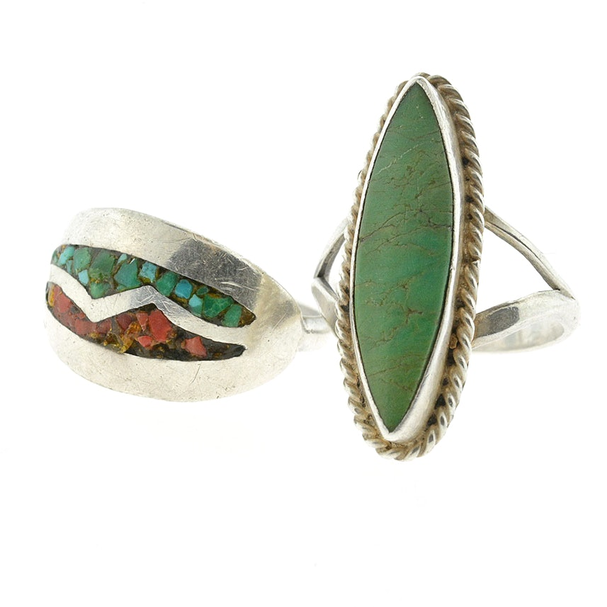 Handcrafted Sterling Silver Rings with Natural Stones