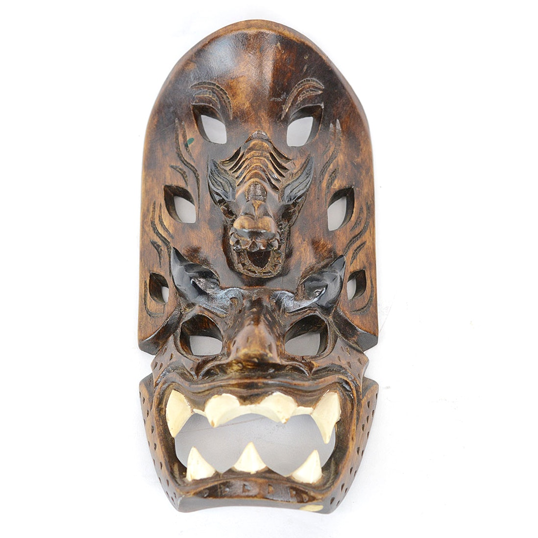 Hand Carved Hawaiian Tiki Mask