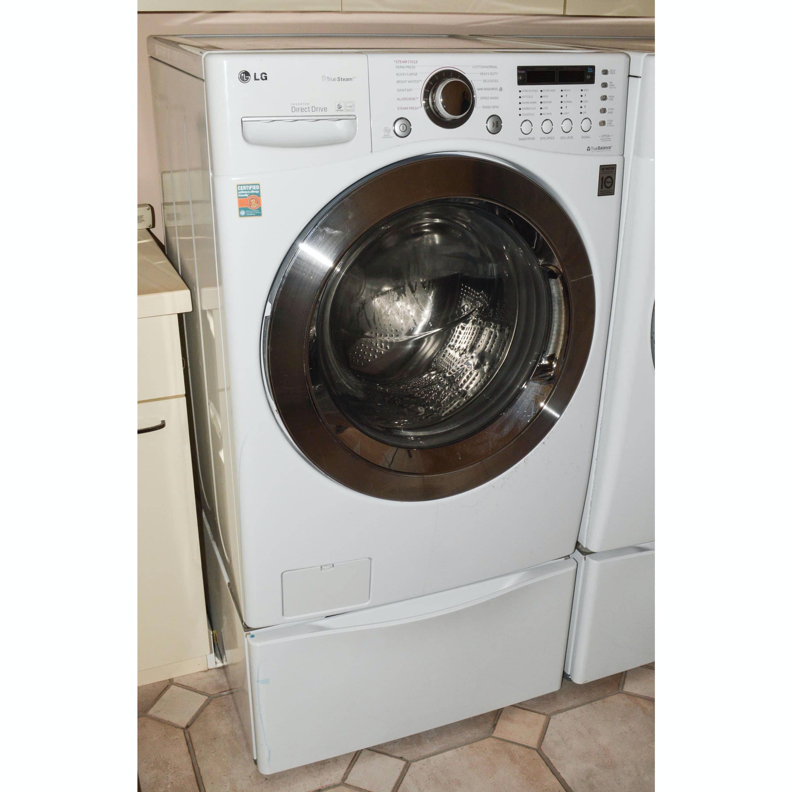 best rated washer dryer lg steam washing machine with pedestal base ebth best rated washer