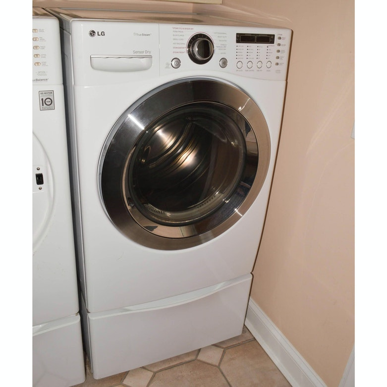 B C Washer ~ Lg front load washing machine and pedestal ebth