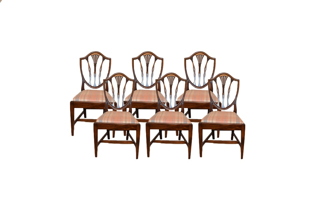 Set Of Six Hepplewhite Style Chairs By Potthast Bros.