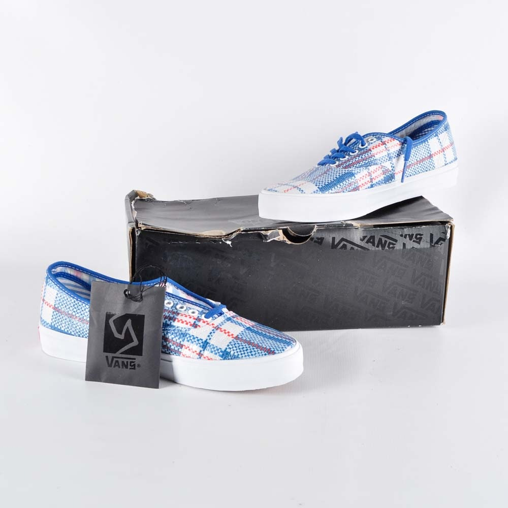Plaid Canvas Vans