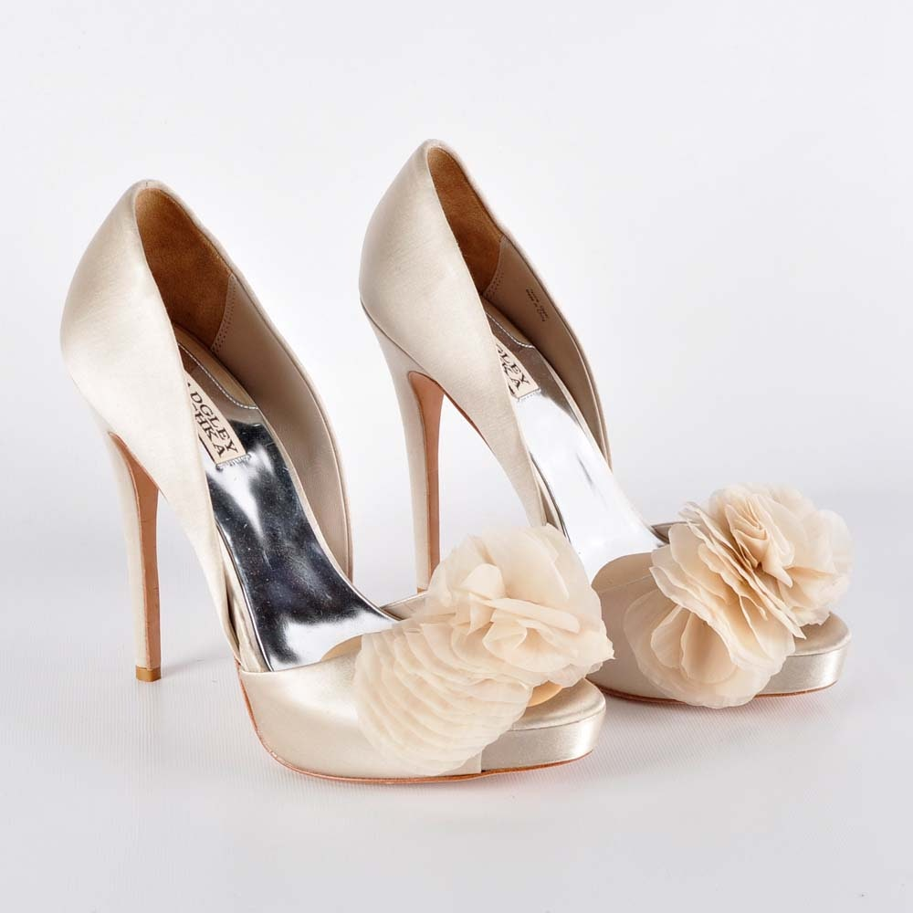 Badgley Mischka Peep Toe Spike Heel Pumps