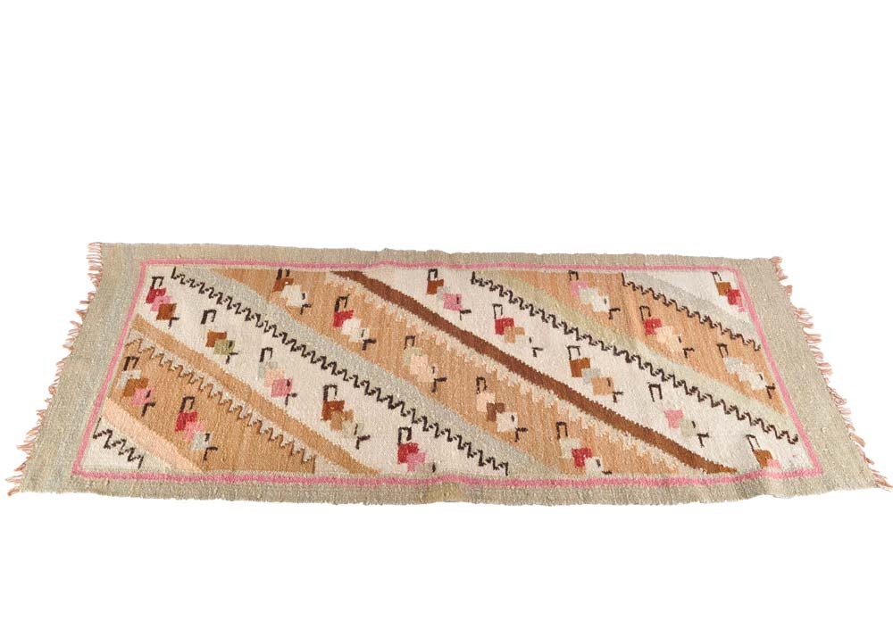 Loom Woven Abstract Wool Runner