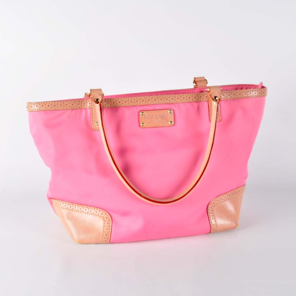 Pink Canvas and Leather Kate Spade Handbag
