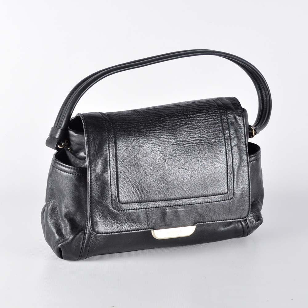 Black Leather Kate Spade Tote