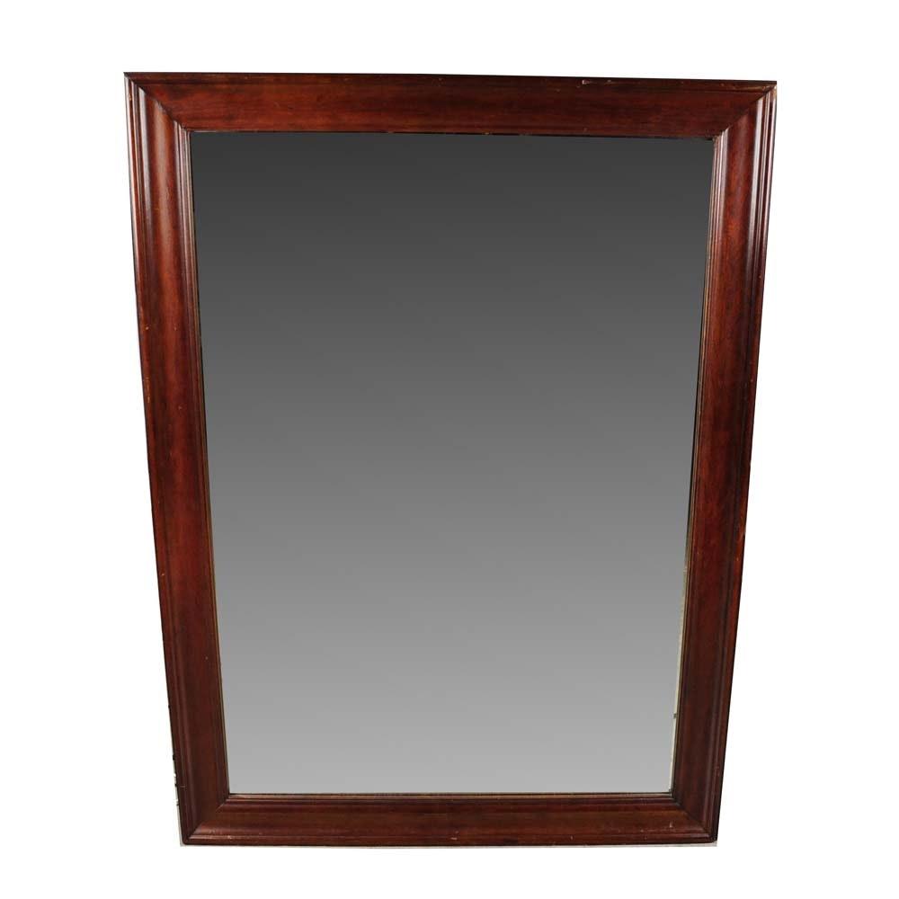 Wood Frame Beveled Mirror Ebth
