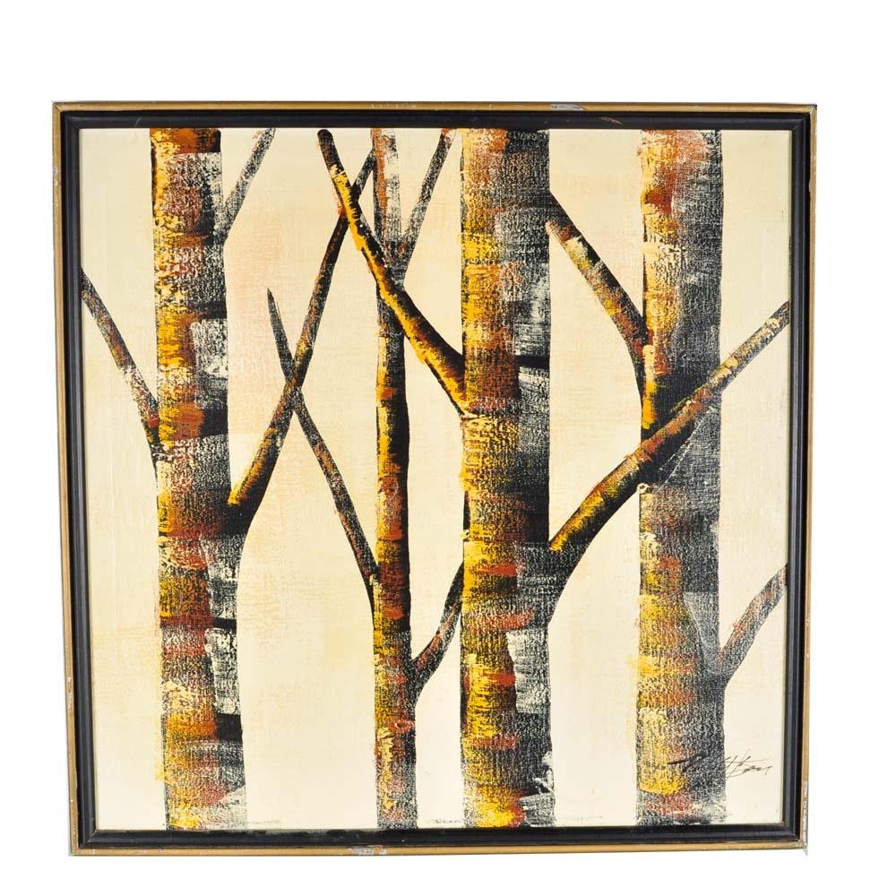 Original Acrylic Tree Painting on Canvas