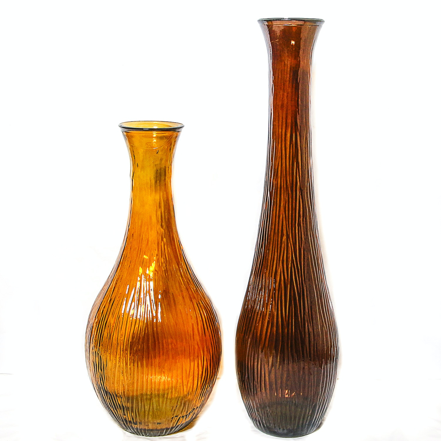 Pair of Oversize Decorative Glass Vases