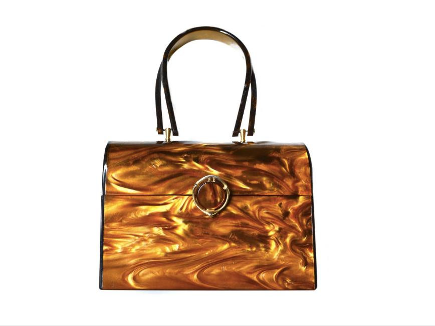 Wilardy Lucite Box Handbag