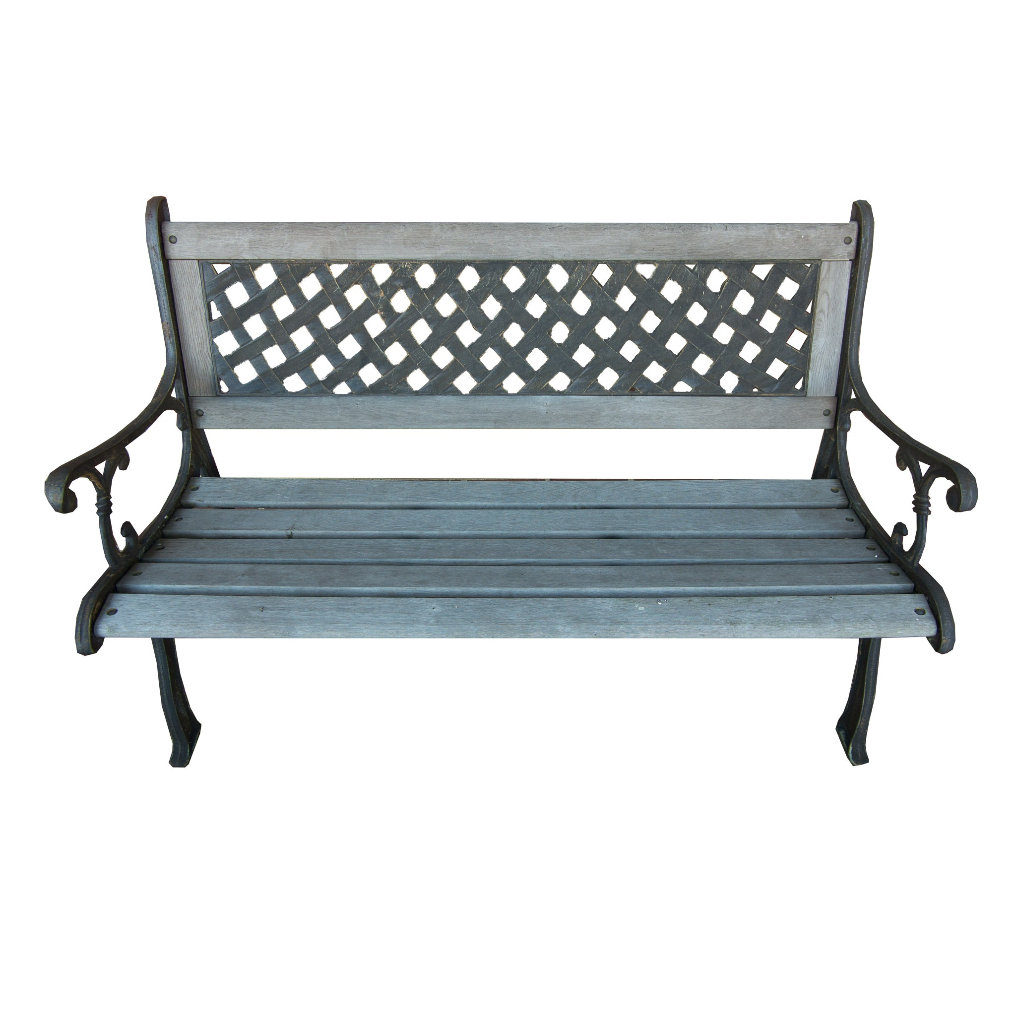 Wood and Iron Park Bench