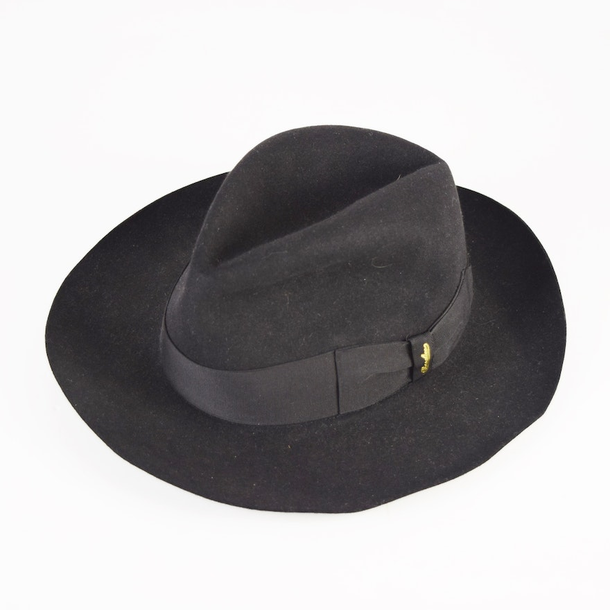 Mens Hand Crafted Italian Fur Felt Fedora by Borsalino Never Worn   EBTH 2216394782b