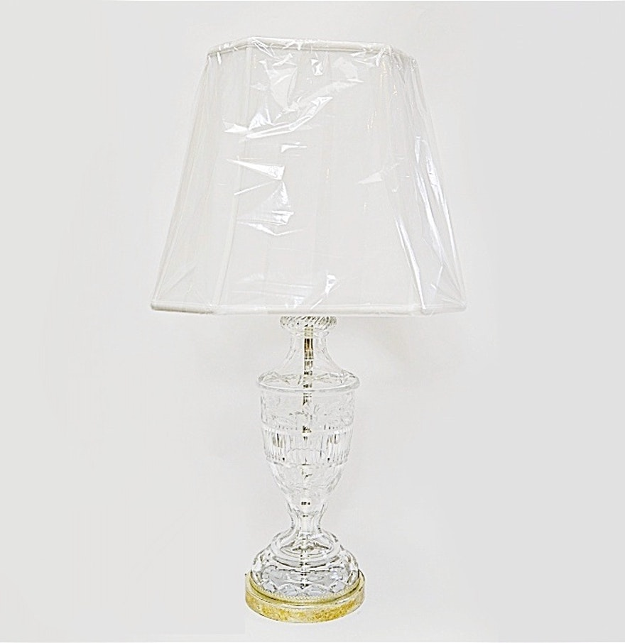 Lead crystal table lamp - 1950s French Lead Crystal Table Lamp