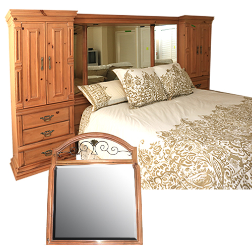 King Size Boyd Storage Headboard, Bed Frame, and Vanity ...