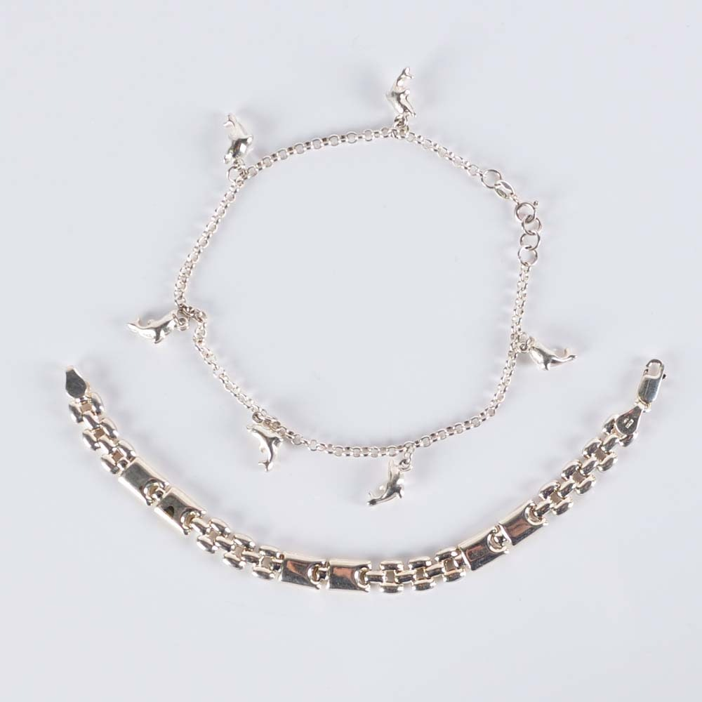 Sterling Silver Bracelet and Anklet